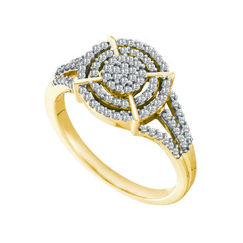 Diamond Micro Pave Ring in 10k Gold 0.35 ctw
