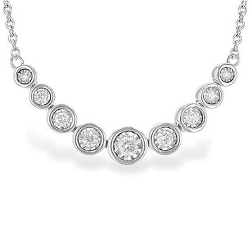 "Ben Garelick ""Champagne Bubbles"" Bezel Set Diamond Necklace"
