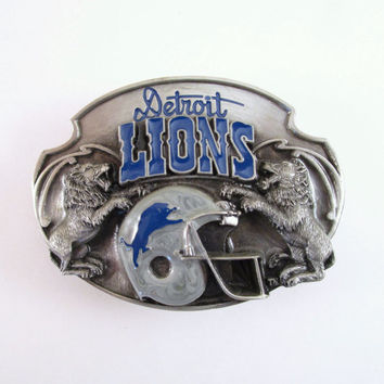 1987 Detroit Lions Belt Buckle, Vintage Football Belt Buckle, Siskyou Limited Edition Belt Buckle, NFL Buckle, Sports Buckle, Father's Day