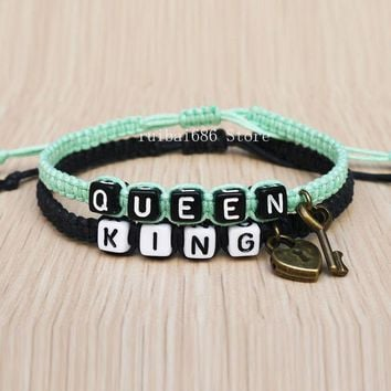 Key Lock Couples Bracelet King Queen His Hers Loves Bracelet Fashion Accessory