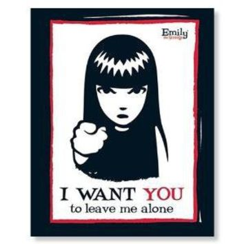 Emily the Strange - I want you Poster  by Unknown - CafePress