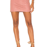 Free People Modern Femme Vegan Suede Mini Skirt in Rose | REVOLVE