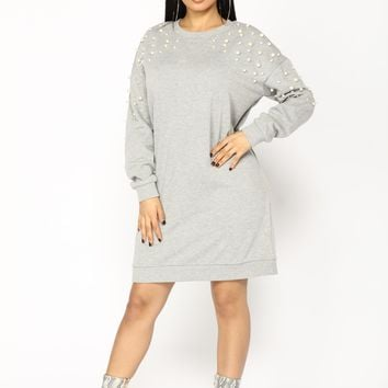 Show Me Those Pearly Whites Tunic - Heather Grey