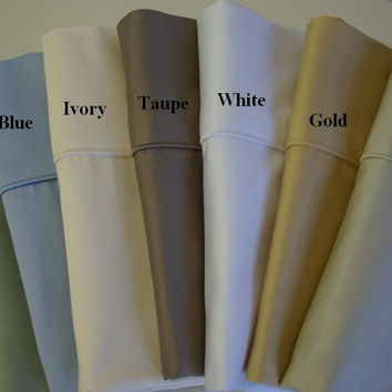 Standard pair of Solid Pillow cases 450 Thread count Egyptian cotton