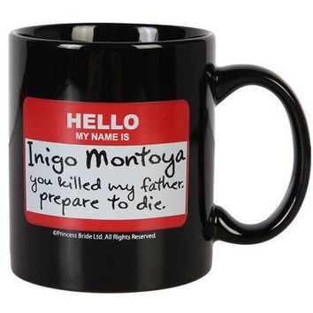 Princess Bride Inigo Montoya Quote Nametag Licensed Ceramic Coffee Mug - Black
