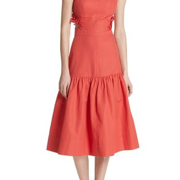 Rebecca Taylor Sleeveless Ruffle Hem Dress | Nordstrom
