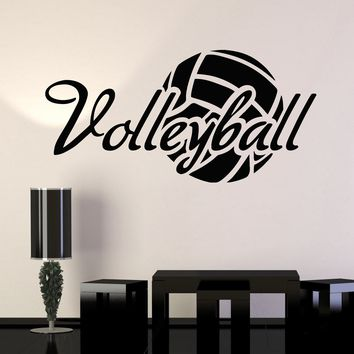 Vinyl Wall Decal Volleyball Ball Sport Stickers Mural Unique Gift (ig3769)