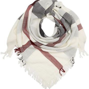 PEAPON Burberry Large Check Merino Wool Scarf