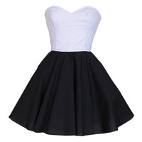 White And Black Party Prom Dress | Style Icon`s Closet