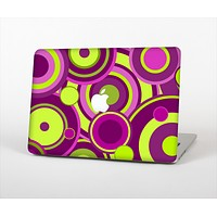 """The Purple and Green Layered Vector Circles Skin Set for the Apple MacBook Pro 13"""" with Retina Display"""