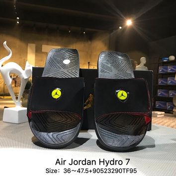 Air Jordan Hydro 7 Slide Sandals Slipper Black - AA2517-023