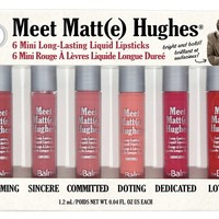 Meet Matte Hughes® -- Set of 6 Mini Long-Lasting Liquid Lipsticks