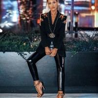 Guiliana Fashion Luxury long Slevee Beading Jacket