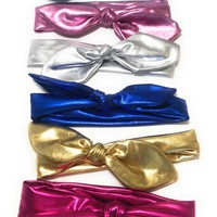 Girls Metallic Bow knot or Bunny Ear Headband