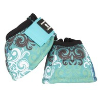 Classic Equine Dyno Designer Bell Boot Blue Scroll