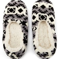 SHERPA LINED FLEECE SLIPPER