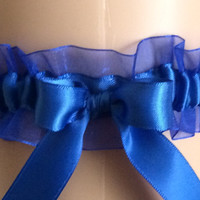 Royal Blue Keepsake Wedding Garter, Prom Garter
