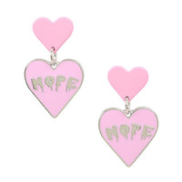 Nope Dripping Heart Drop Earrings