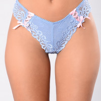 Women's Work Thong - Blue