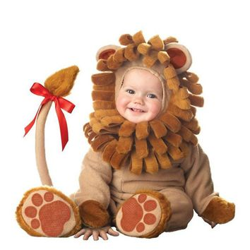 Baby Babies Toddler Halloween Lil' Lion King of Jungle Animal Babygrow Fancy Dress Outfit Costume