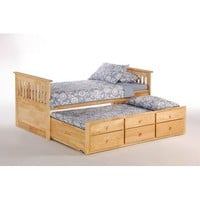 Night and Day Ginger Captains Bed w/Drawers and Trundle in Natural