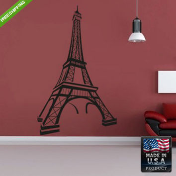 Wall Decal Mural Sticker Beautyfull Cute Paris Eiffel Tower Bedroom (z112)