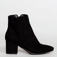 Ginger Black Suede Booties