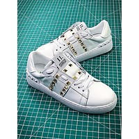 Valentino Rockstud Untitled White Sneakers