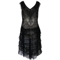 1920s Gossamer Chantilly Lace Flapper Dress - Polyvore