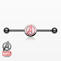 The Avengers Black Titanium PVD Industrial Barbell