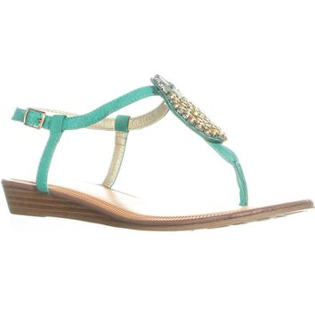 Carlos By Carlos Santana Tropical Flat Sandals, Emerald, 7 US / 37 EU