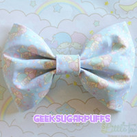 Fairy Kei Bow Kawaii Little Twin Stars by GeekSugarPuffs on Etsy