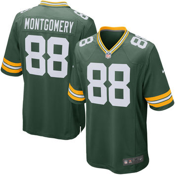 Men s Green Bay Packers Ty Montgomery Nike Green Game Jersey 722113a0e