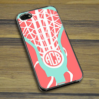 Lacrosse Phone Case Monogrammed Lax is Life | LuLaLax.com
