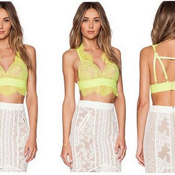 Lime Bralette Crop Top
