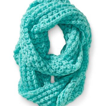 Solid Butterfly Knit Infinity Scarf -