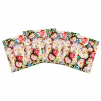 "Dawid Roc ""Pastel Rose Romantic Gifts"" Green Photography Indoor/Outdoor Place Mat (Set of 4)"