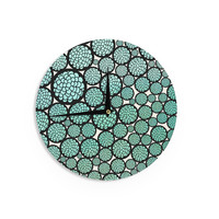 "Pom Graphic Design ""Blooming Trees"" Turquoise Circles Wall Clock"