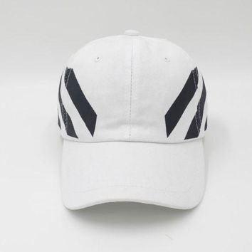 PEAPDQ7 Off White Embroidered Adjustable Cotton Baseball Golf Sports Cap Hat