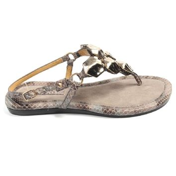 Nine West Womens Slingback Flat Sandal NWWALID BROWN MULT