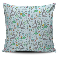 Science Equipment Pillow Cover