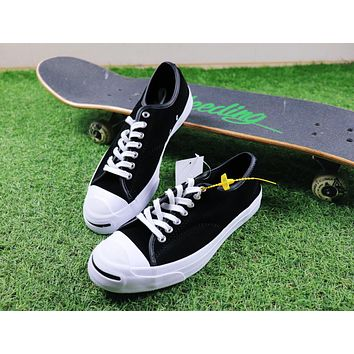 Sale Polar Skate Co. x CONVERSE Jack Purcell Pro XO Black Suede Skateboard Shoes Sneaker