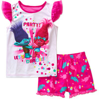 Trolls Girls' Tank and Shorts Sleep Set - Walmart.com