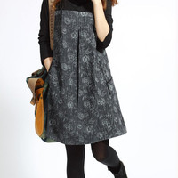 Spring cotton pile collar the Patchwork tunic long sleeve dress Bottoming shirt