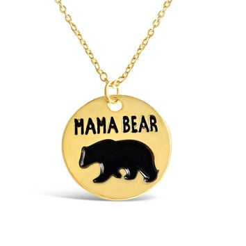 Round Mama Bear Necklace