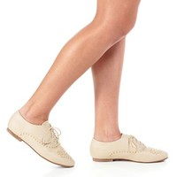Natural Studded Oxfords