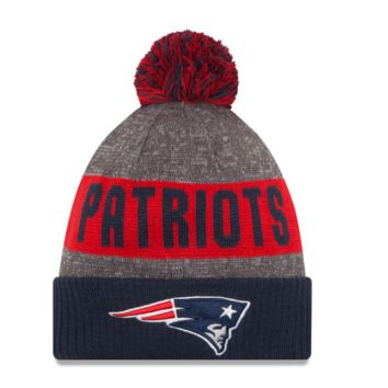 New England Patriots New Era Heather Gray 2016 Sideline Official Sport Knit Hat