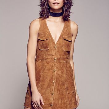 Free People Suede Jumper Dress