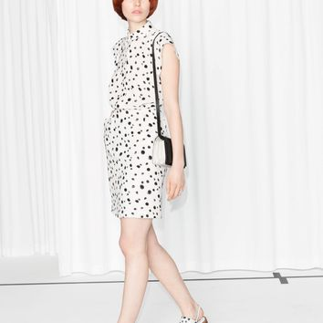 & Other Stories | Dalmatian Print Shirt Dress | White