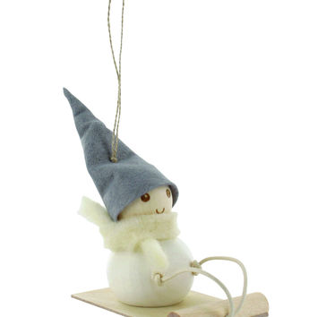 AARIKKA SLEDDING ELF ORNAMENT
